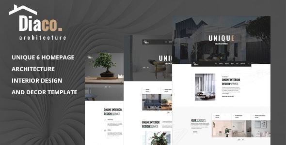 Diaco - Architecture & Interior Design HTML Template - Business Corporate