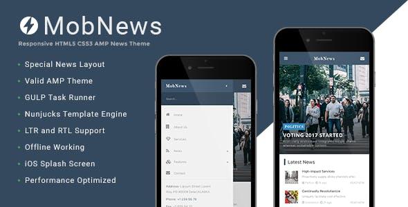 MobNews - AMP News Template