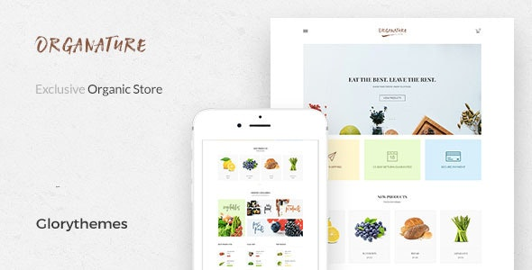 Organature | A Vibrant HTML Template for Organic Food, Store & Eco Products - Retail Site Templates