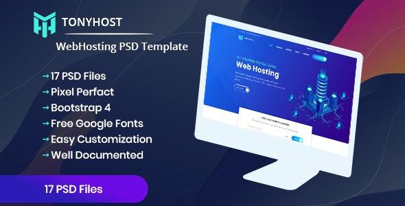 Tonyhost - Web Hosting PSD Template - Hosting Technology