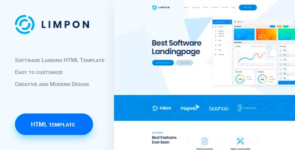 Limpon - Software Landing HTML Template - Software Technology