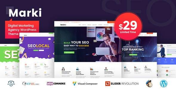 Admin Template Bootstrap Marketing Wordpress Themes