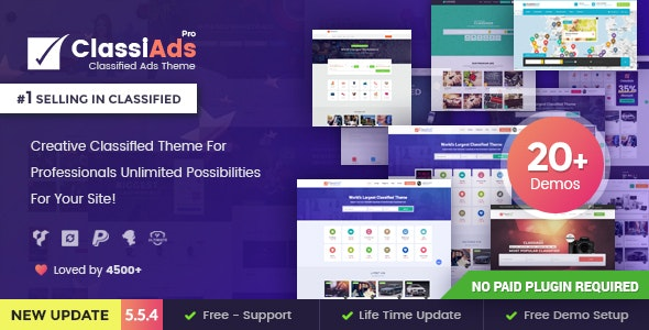 Classiads - Classified Ads WordPress Theme by designinvento