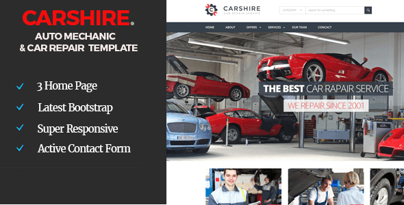 Car Shire || Auto Mechanic & Car Repair  Template - Business Corporate