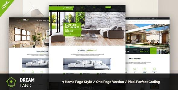 DREAM LAND - Single Property HTML Template