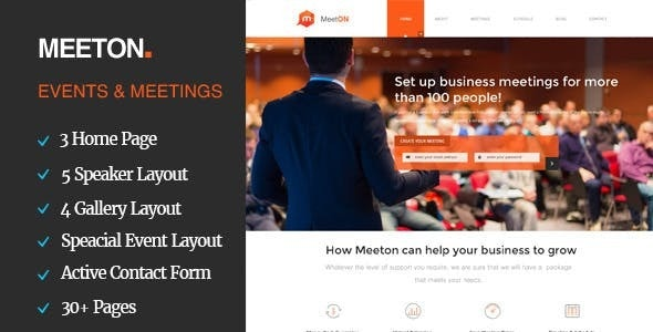 Meeton - Conference & Event HTML Template - Events Entertainment