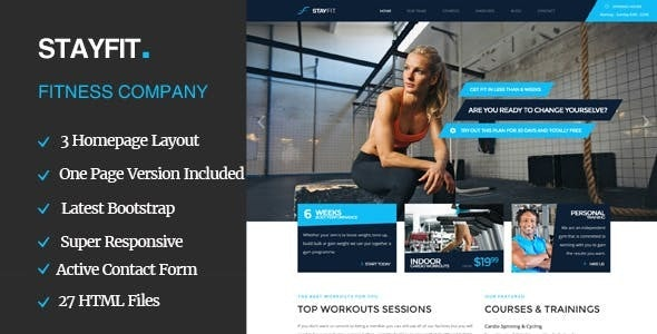 Stayfit | Gym & Fitness HTML Template - Health & Beauty Retail