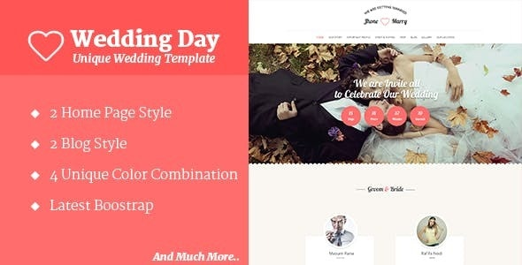 Wedding Day - HTML Template - Wedding Site Templates