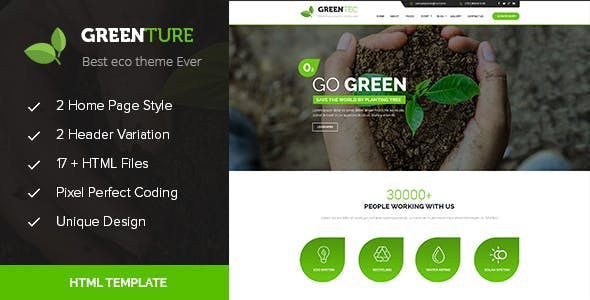 Greenture - Environment / Non-Profit HTML Template