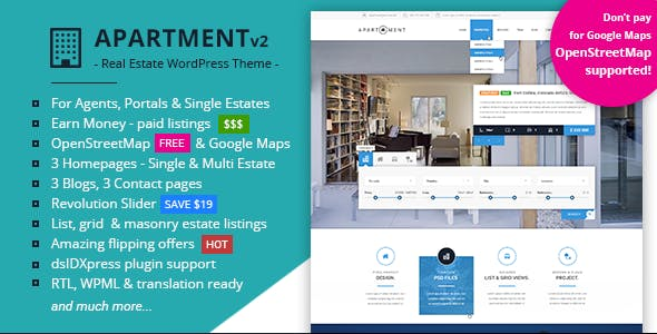 Property Portal Website Templates from ThemeForest
