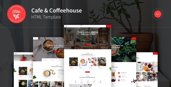 Fika - Cafe & Coffeehouse HTML Template - Restaurants & Cafes Entertainment