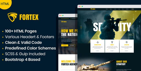Fortex - Military Service & Veterans HTML Template by mwtemplates