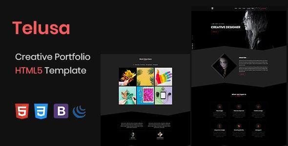 Telusa - Creative Portfolio HTML5 Template - Portfolio Creative
