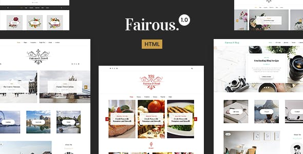 Fairous - Elegent HTML Blog Template nulled theme download