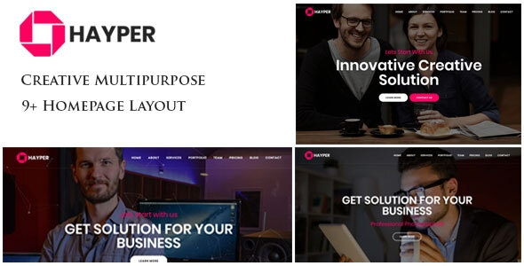 Hayper - Creative Onepage Multipurpose Template - Creative Site Templates