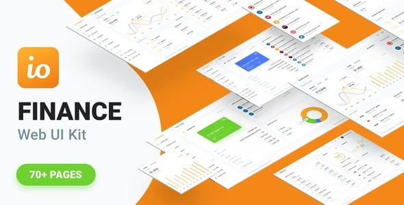 IOFinance - UI Kit for Finance, Banking and Wallet Websites - Sketch UI Templates