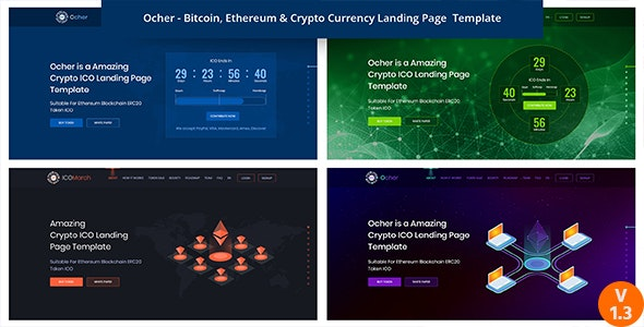 Ocher - Bitcoin, Ethereum & Cryptocurrency HTML Landing Page Template - Technology Site Templates