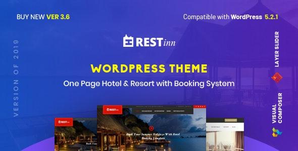 Restinn- Resort and Hotel Booking System WordPress Theme - Travel Retail