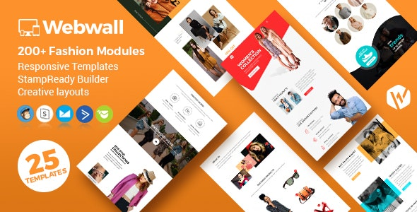 Webwall - Fashion Responsive Email Template + StampReady & CampaignMonitor compatible files - Newsletters Email Templates