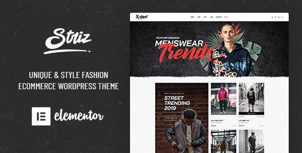 Striz - Fashion Ecommerce WordPress Theme - WooCommerce eCommerce