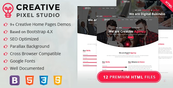 Creative Pixel Studio - Onepage HTML Template (Business, Creative, Agency, Corporate, Portfolio) - Creative Site Templates