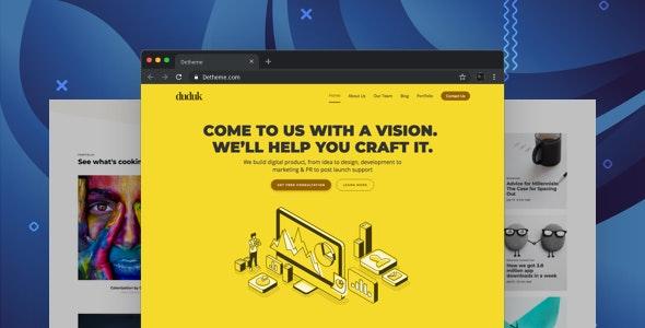 Duduk - Digital Agency HTML Template - Creative Site Templates