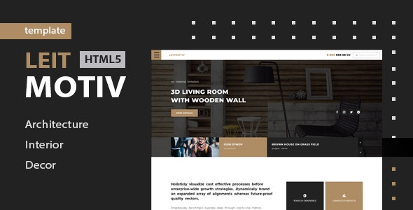 Leitmotiv - Architecture & Interior Template - Business Corporate