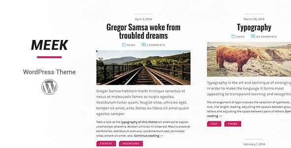 Meek WordPress Theme - Personal Blog / Magazine