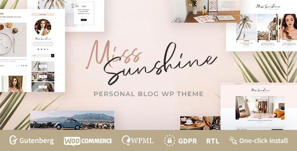 Miss Sunshine - Lifestyle & Beauty Women Blog - Personal Blog / Magazine