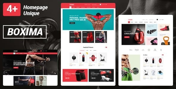 Boxima - Gym Fitness Equipment Store HTML Template - Health & Beauty Retail