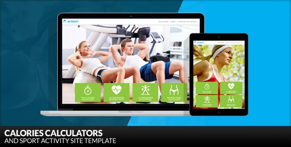 Activity - Calories Calculators and Sport WordPress Theme - Health & Beauty Retail