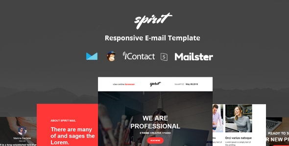 Spirit Mail - Responsive E-mail Template + Online Access - Email Templates Marketing