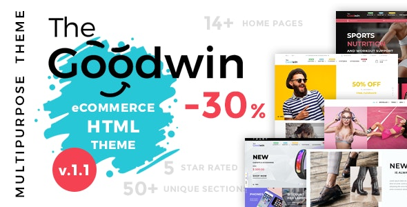 Goodwin - eCommerce HTML Template - Retail Site Templates