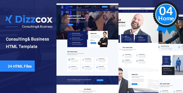 Dizzcox - Business Consulting Template - Business Corporate