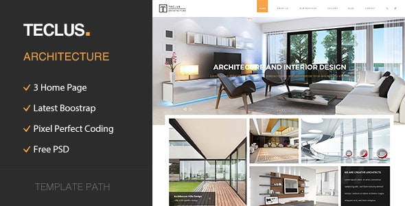 Teclus - Architecture and Renovation HTML5 Template - Business Corporate