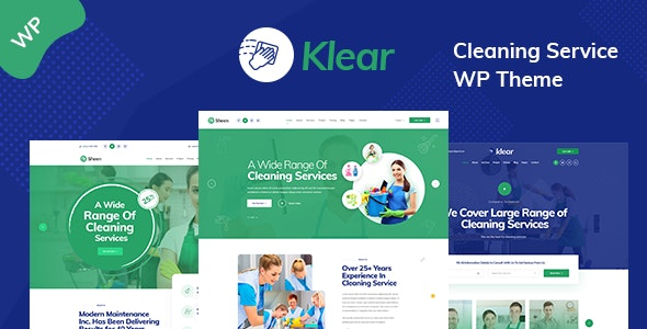 Klear - Cleaning Service Company WordPress Theme + RTL - Business Corporate