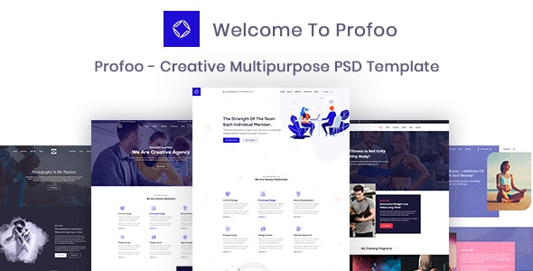 Profoo – PSD Template For Creative Agency - Portfolio Creative