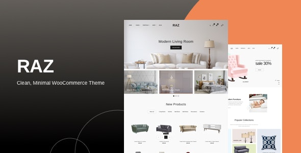 Raz - Clean, Minimal WooCommerce Theme - WooCommerce eCommerce
