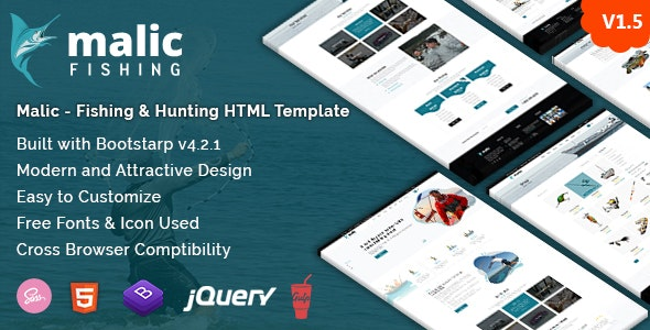 Malic - Fishing & Hunting Club HTML Template + RTL - Travel Retail