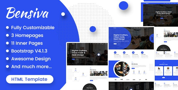 Bensiva - Creative Business Agency Html Template - Business Corporate