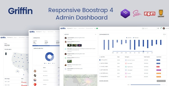 Griffin - Developer-friendly Bootstrap 4 Admin Dashboard & UI Kit - Admin Templates Site Templates