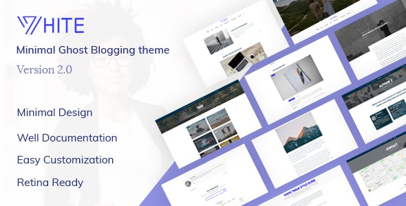 White - Minimal and creative ghost blogging theme - Ghost Themes Blogging