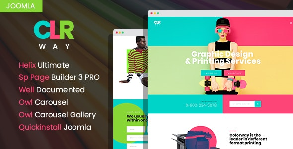 ColorWay - Printing Design Service Responsive Joomla Template - Creative Joomla