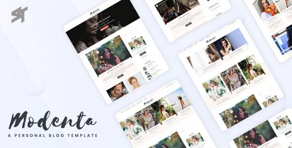 Modenta - A Responsive Personal Blog Template - Blog Tumblr