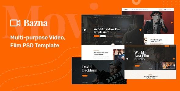 Bazna - Multipurpose Film Maker & Video PSD Template - Film & TV Entertainment