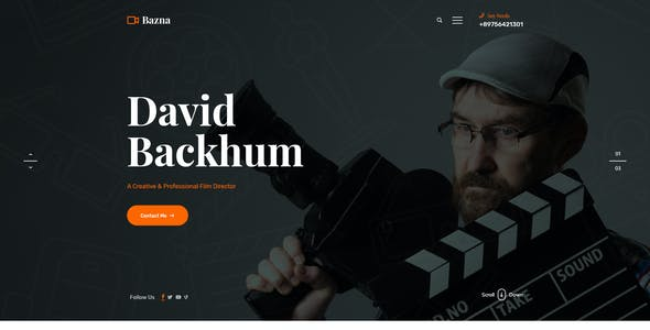 Bazna - Multipurpose Film Maker & Video PSD Template