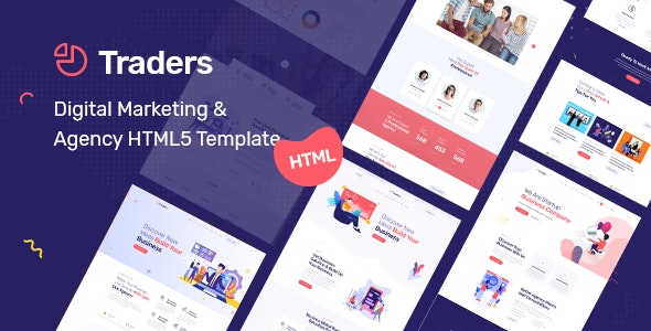 Traders - Digital Marketing & Agency HTML5 Template - Business Corporate
