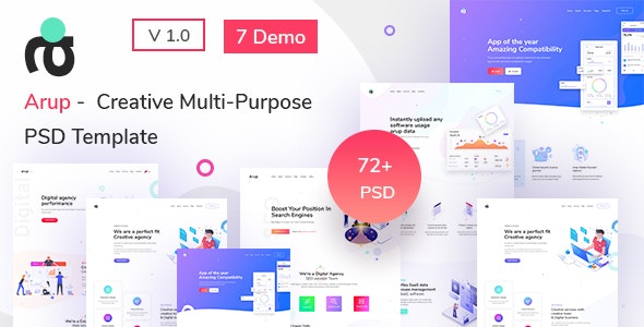 Arup - Creative Multipurpose PSD Template - Creative PSD Templates