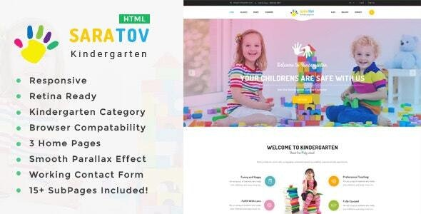 Saratov - Kindergarten & School HTML Template - Children Retail