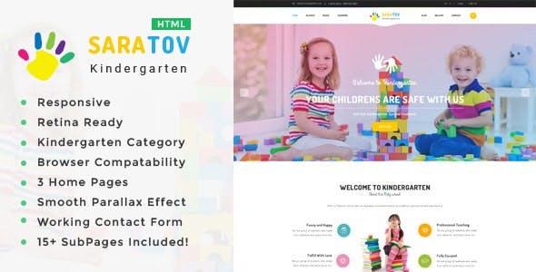 Saratov - Kindergarten & School HTML Template